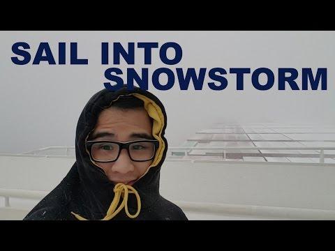 Sailing into a HEAVY Snowstorm! | Life at Sea | Mariner's Vlog #2