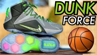 dunk force nike lebron 12 w on feet review