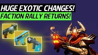 Destiny 2 News - HUGE Exotic Weapon Changes!, Faction Rally Returns, Future Gameplay Goals & More!