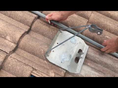 How to Install a Tile Roof Tripod TV Antenna Mount