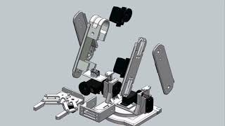 Robotic arm full explode view in solidworks
