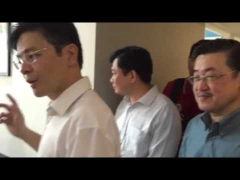 National Development Minister Lawrence Wong visits Waterway Terraces in Punggol