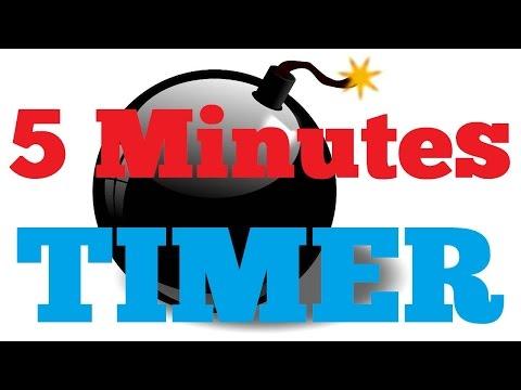 5 minutes Countdown Timer Alarm Clock