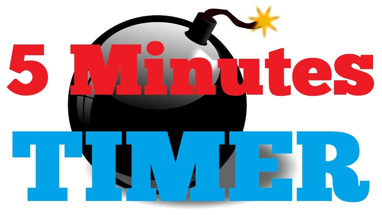 5 minutes Countdown Timer Alarm Clock - YouTube