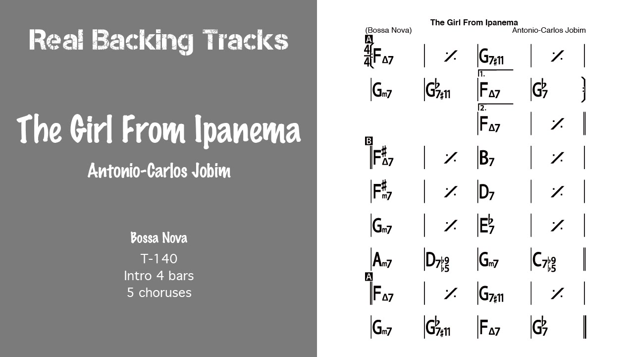 The Girl From Ipanema - Real Jazz Backing Track - Jazz ...