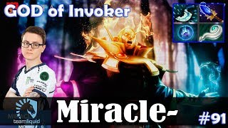 Miracle - GOD of Invoker MID | with s4 (Nyx Assassin) | Dota 2 Pro MMR Gameplay #91