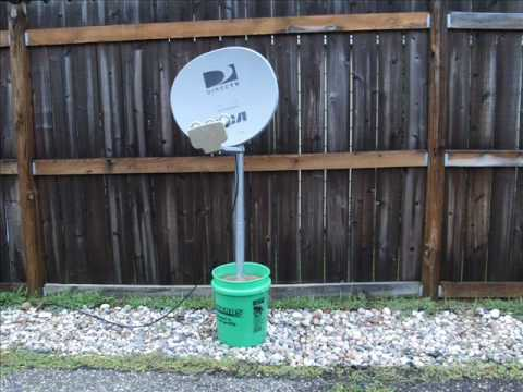 Satellite Dish Bucket Mount Youtube