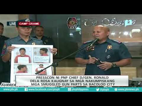 Philippine National Police  Press Conference on smuggled gun parts