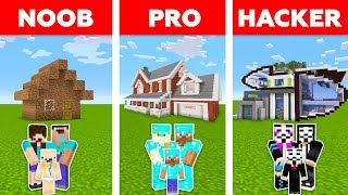 Minecraft NOOB vs PRO vs HACKER : FAMILY LIFE HOUSE CHALLENGE in minecraft / Animation