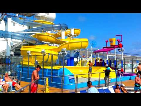 Carnival Glory's new Waterworks Waterpark.