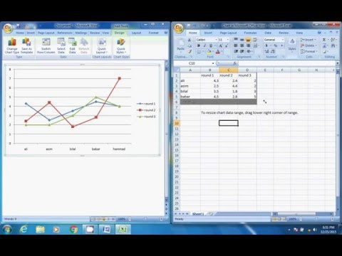 How to make a line graph in word 2020