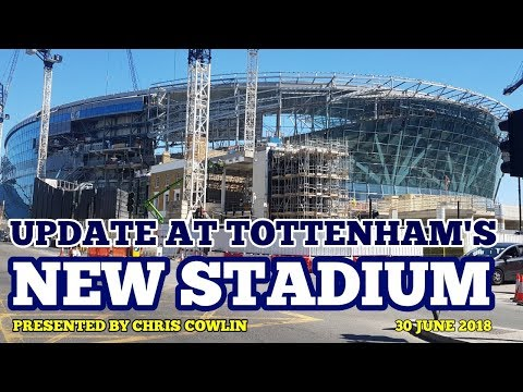 UPDATE AT TOTTENHAM'S NEW STADIUM: Ticket Office, NFL Pitch, Roof, Cranes: 30 June 2018