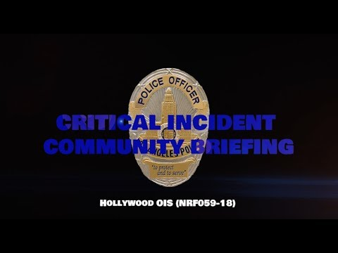 Critical Incident Video Release - F059-18 HWD OIS