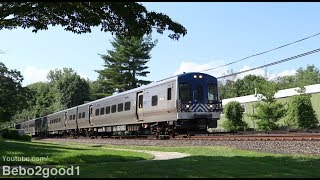 Metro-North Harlem Line Trains at the Kensico Cemetery (NY)