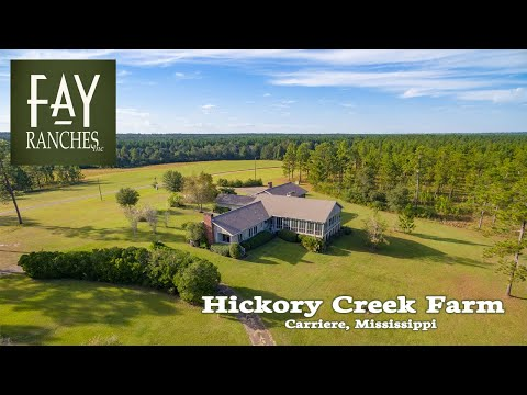 Mississippi Plantation For Sale | Hickory Creek Farm | Carriere, Mississippi | Hunting Property