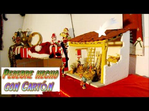 Manualidades Hacer Belen.Manualidades Para Navidad Pesebre Hecho Con Carton Portal De Belen Nacimiento