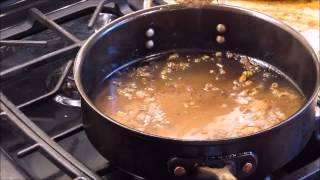 Steak Diane Sauce Making