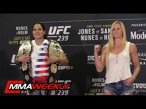 UFC 239 Face-Offs Jon Jones, Amanda Nunes, Holly Holms, Ben Askren