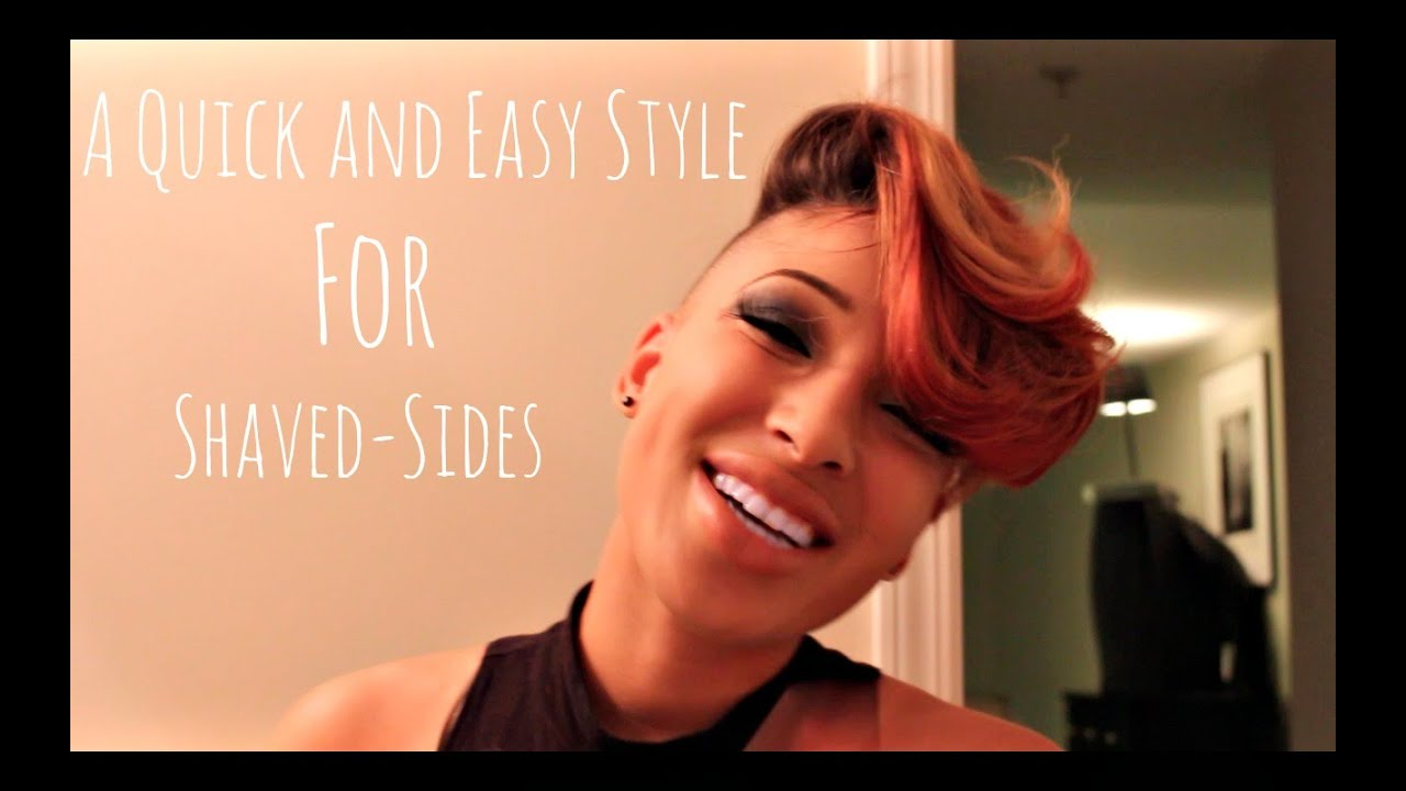 A Quick Hair Style For Shaved Sides Youtube