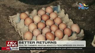 Poultry farmers in Kiambu reaping benefits from improved egg prices