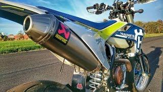 Husqvarna 501 2017 Akrapovic TOP SPEED | Show-off | Wheelie practice | Cruise thumbnail