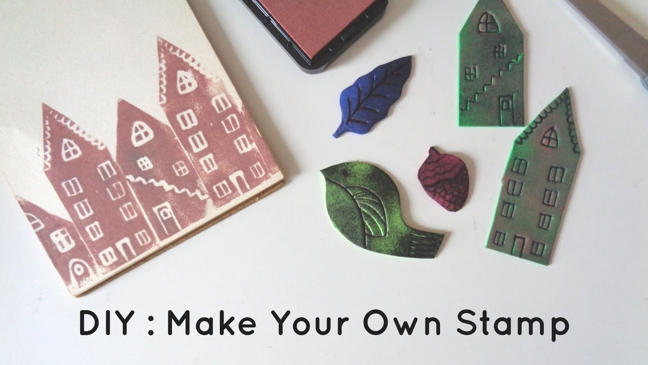 Diy how to make a stamp with foam sheets youtube