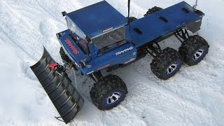 How to make a RC snow plow