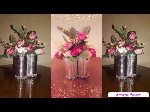 DIY Wonderful Wedding centerpiece  with empty toilet paper rolls