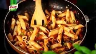 Przepis- Makaron z pikantnym sosem