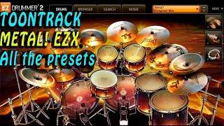 Toontrack Metal ! EZX, Metal ! EZX demo, Metal ! EZX : all the presets