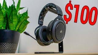 Best Wireless Gaming Headset Under $100! -- Corsair HS70 Review