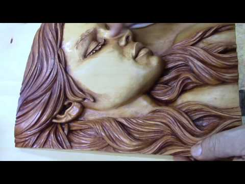 How to stain and finish basswood wood carving, Fred Zavadil