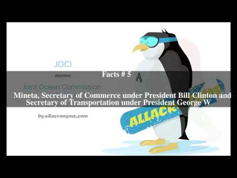 Joint Ocean Commission Initiative Top # 7 Facts
