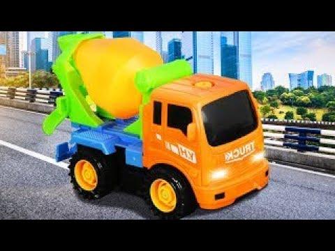 New Cement Mixer Truck Car Construction Real Children Video Bip Bip Cars TV