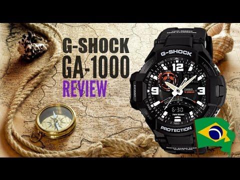 0dd77bfd383 Relógio CASIO G-SHOCK GA-1000 - Review em Português - YouTube