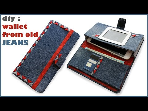 DIY No Sew Wallet - from OLD JEANS | How to make your own wallet at home from old jeans
