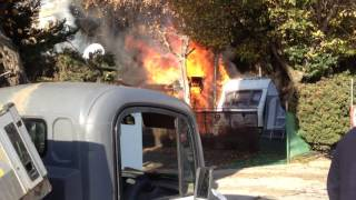 Caravans on fire 1