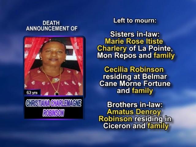 Christia Charlemagne Robinson long