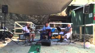 High Life Cajun Trio at Adams Pack Station Sept 2015Katen