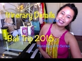 Itinerary Details from  Bali Trip, Day to Day - Planning Series 6