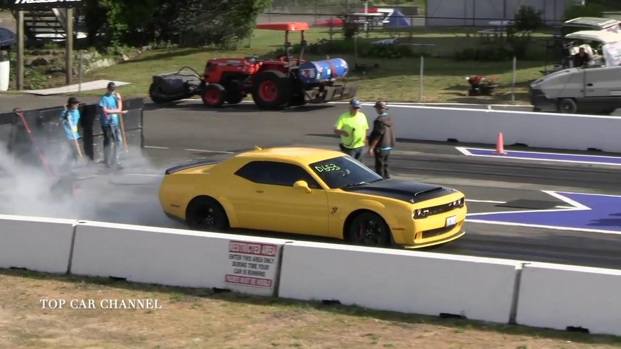 RACE Demon vs Shelby GT500 mp4 - YouTube