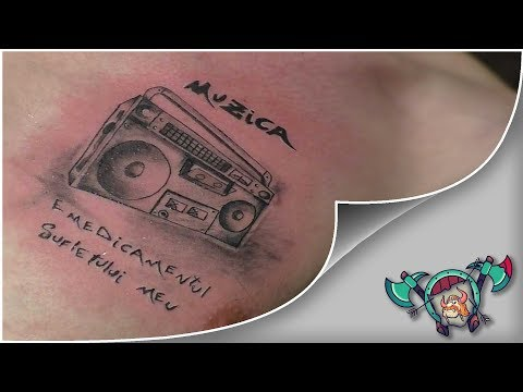 Music is Life Tattoo Time Lapse