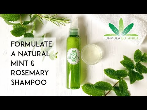 How to Make a Natural Shampoo with Mint & Rosemary - Formula