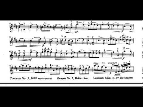 Concerto No. 5, 3rd Movement (F. Seitz) violin sheet music