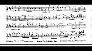 Concerto No. 5, 3rd Movement (F. Seitz) violin sheet music