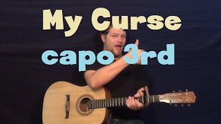 My Curse (Killswitch Engage) Easy Guitar Lesson Capo 3rd Fret Strum Chord How to Play Tutorial