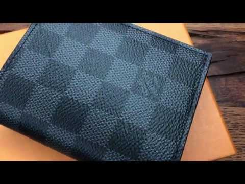 19caa69d23af Louis Vuitton Smart Wallet   Geldbeutel Damier Graphite Unboxing 4K ...
