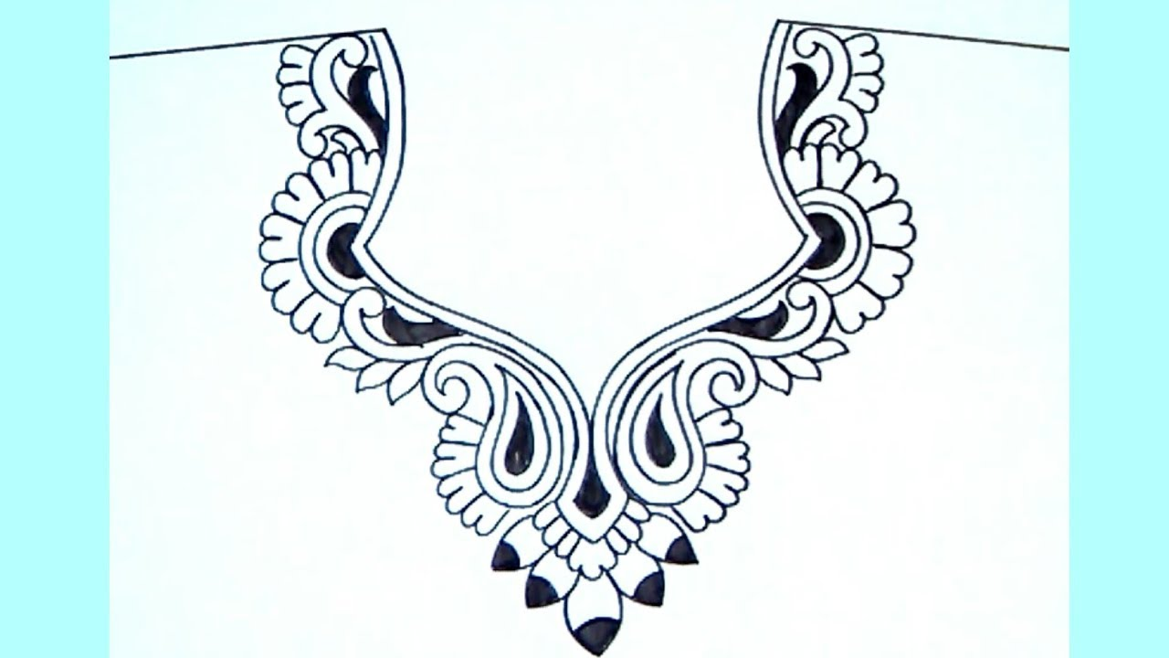 how to draw necklace designs