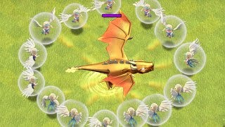 IMMORTAL ATTACK vs. DRAGON GOD!! 'Clash Of Clans' THIS DRAGON WON'T DIE!!!