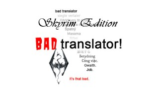 Badly Translated: Skyrim Announcement Trailer(Video image in your heart as soon as possible. (Skyrim became talked about as soon as the teaser trailer was shown, just imagine how popular it would have ..., 2015-03-01T03:51:26.000Z)